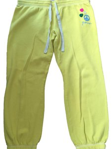 Victoria's Secret Pink Peace Relaxed Pants Yellow