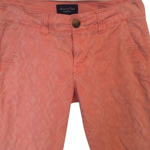 American Eagle Outfitters Khaki/Chino Pants Printed coral