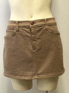 JOE'S Denim Mini Mini Skirt Beige