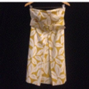 New York & Company short dress Yellow/white on Tradesy