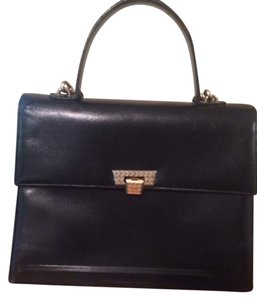 Dior Leather Classic Timeless Satchel in Black