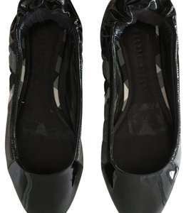 Burberry Novacheck Plaid Ballet Black Flats