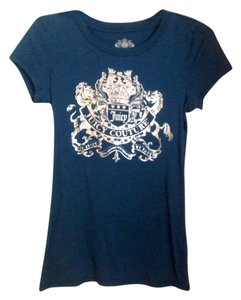 Juicy Couture T Shirt Teal with silver