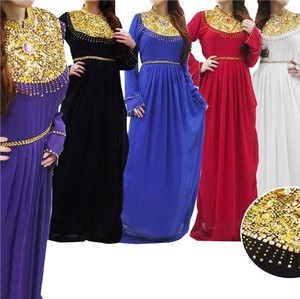 royal blue, black, red, white, gold yellow Maxi Dress by Other Handmade Custommade Womens Maxi Kaftan