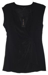 Rachel Zoe Flowy Fitted Silk Top black