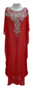 Rouge red Maxi Dress by