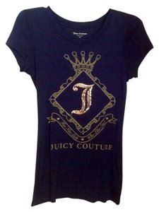 Juicy Couture T Shirt Navy with gold