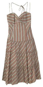 Nicole Miller short dress Multi colored Halter Tie Fitted Flowy on Tradesy