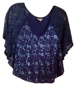Guess Top Blue with blue sequins