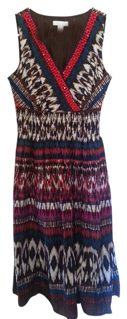 Charter Club A Line Party Casual Ikat Dress