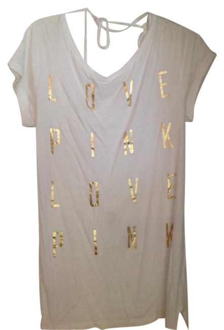 Item - White with Gold Long Great For Bathing Suit Cover Up Or Leggings Tunic Size 0 (XS)