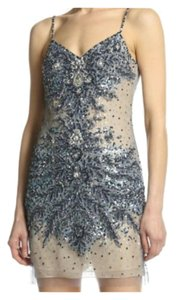 Basix Sequin Beaded Mini Black Label Dress