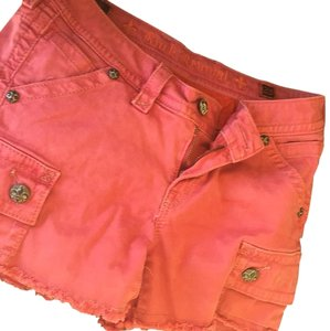 Rock Revival Studded Cuffed Shorts Pink