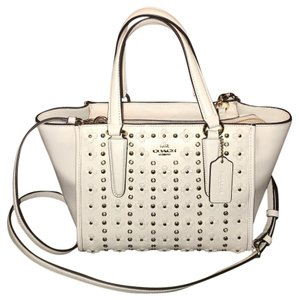 Coach Floral Riveted Leather Crosby Shoulder Bag