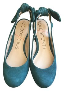 Sole Society Teal Flats