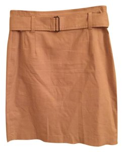 Theory Mini Belt Khaki Mini Skirt Tan
