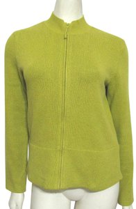 Eileen Fisher Knit Sweater S 4 6 Cotton Zip Zippered Fisher Small Cardigan