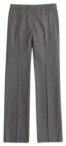 J.Crew Cafe Trouser Pant Super 120s Wool Silk Suit Suiting Charcoal Work Classic Gray Leggings