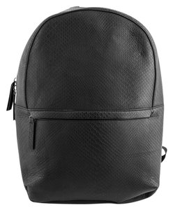 Zara Croc Embossed Leather Backpack