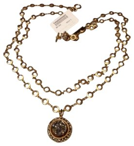 Other Gold Plated Swarovski Crystal Double Circle Chain Necklace