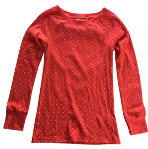 Old Navy T Shirt Red w/ White Polka Dots