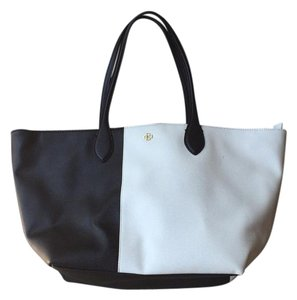 Ann Taylor Tote in White and Black