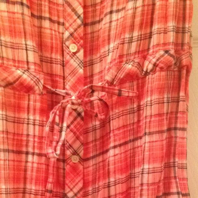 C&C California short dress Red And Blue Plaid on Tradesy