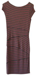Bailey 44 short dress Grey with pink stripes on Tradesy