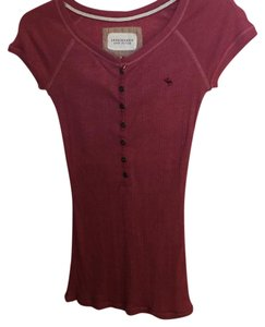 Abercrombie & Fitch T Shirt Light cranberry