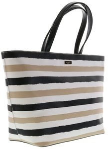 Kate Spade Nwt Wkru2675 Strap Tote in Cream Black Beige