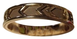 House of Harlow House Of Harlow 1960 'Aztec' Gold And Taupe Leather Bangle