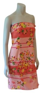 Kay Unger short dress Pink Multi on Tradesy