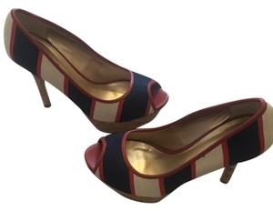 Guess Striped navy blue/red Platforms