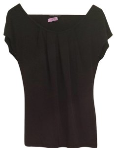 Banana Republic Shirt Dressy Professional Silk Pleated Top Black