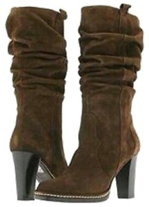 Via Spiga Pull On Slouchy Suede Brown Boots