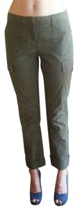 Banana Republic Cargo Pant Chino Cargo Fitted Boot Cut Pants olive green