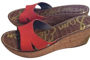 Sam Edelman Red Wedges
