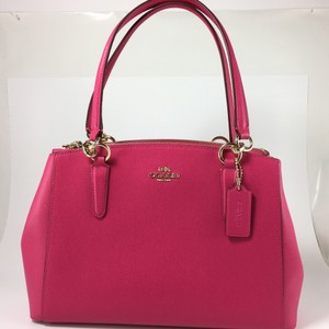Coach Nwt Crossbody Pink Satchel in Pink Ruby