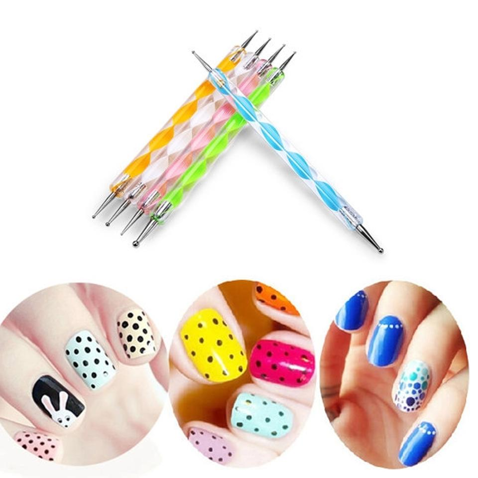 Magic Show 5 Double Ended Ball Stylus Diy Tools Kit 4 Nail Art Clay ...