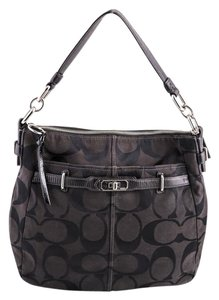 Coach Monogram Canvas/leather Shoulder Bag