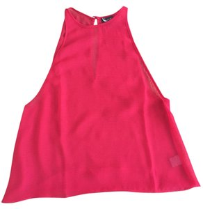 Sparkle & Fade Sleeveless Evening Blouse Casual Dressy Top Pink