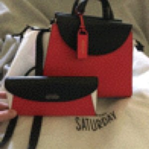 Kate Spade A Wallet Satchel in Red, Black & White