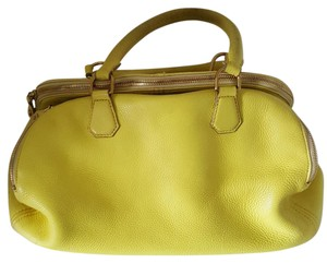 J.Crew Biennial Leather Large Satchel in Yellow