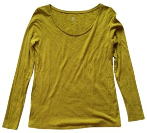 Ann Taylor LOFT T Shirt Yellow-Green