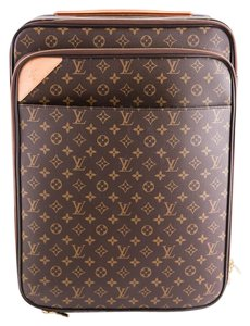 Louis Vuitton Coated Canvas Brown Travel Bag