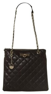 DKNY Quilted Leather Tote Gold Cross Body Bag