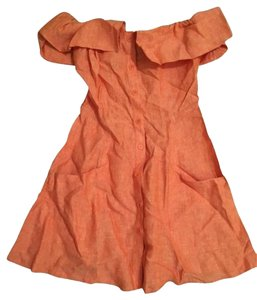 Reformation short dress Orange on Tradesy