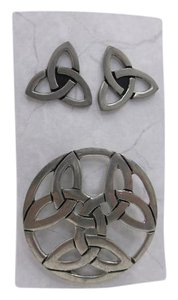 Other Pre-Owned, Celtic Set Earrings and Broach w Free Shipping JMH Personal Collection