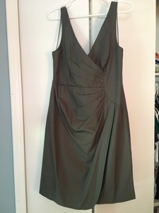 J.Crew Dark Pewter Cotton Taffeta Ramona #42859 Formal Bridesmaid/Mob Dress Size 8 (M)