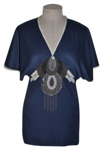 Custo Barcelona Draped Lace Sequins Chains Tunic